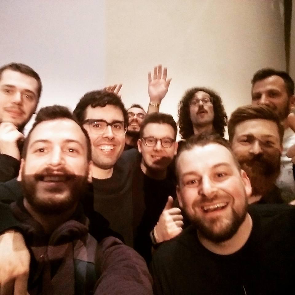 Photo de groupe au Pixels festival Mons