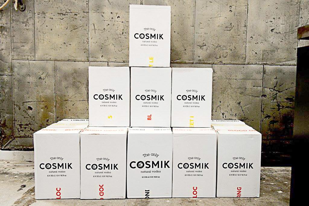 Packaging boîte pour marque de vodka belge