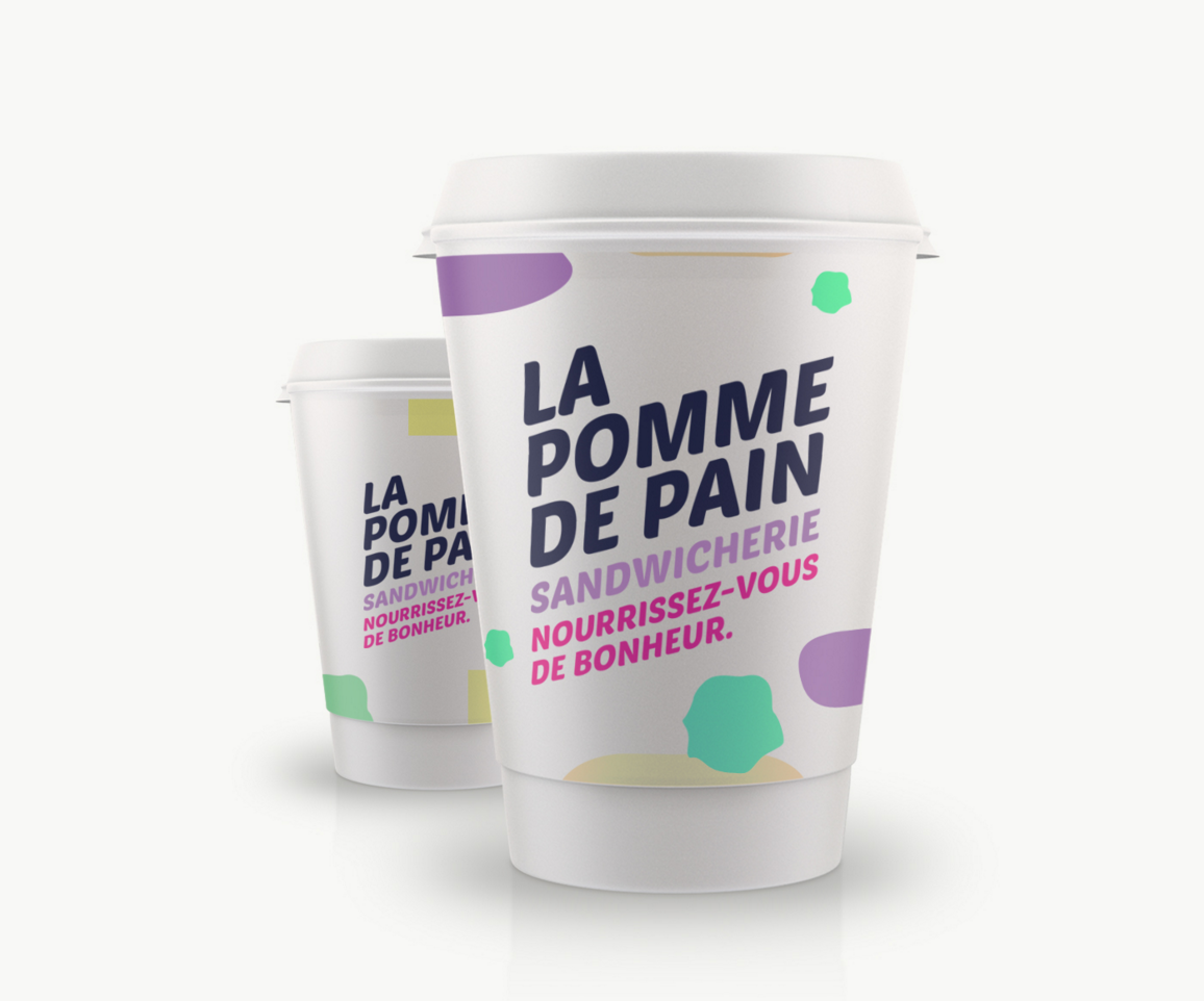 Branding pour la sandwicherie La Pomme de Pain à Anderlues